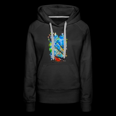 Artist Palette And Brushes - Women's Premium Hoodie