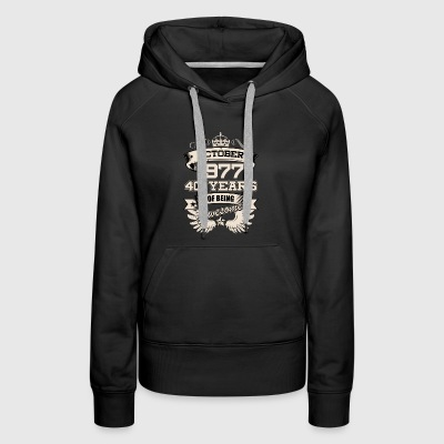 October 1977 40 Years Birthday Present Love Idea - Women's Premium Hoodie