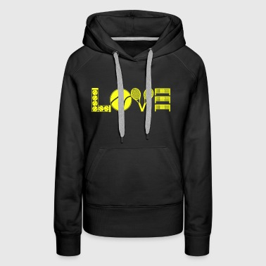 Tennis Love Shirt - Women's Premium Hoodie
