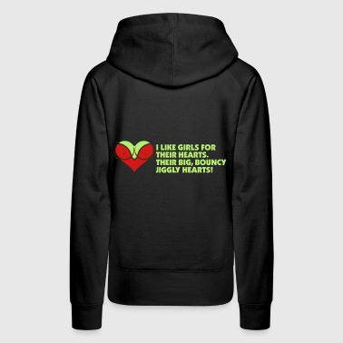 I Love Women For Their Hearts - Women's Premium Hoodie