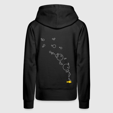 Fish with bubbles - Women's Premium Hoodie