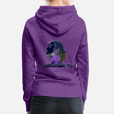 Earth vintage picture gift idea - Women's Premium Hoodie
