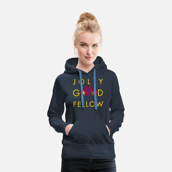 Lucky Hoodies & Sweatshirts - good_fellow-t-shirt - Women's Premium Hoodie navy