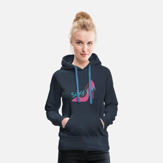 Highheels Hoodies & Sweatshirts - sexy girl - Women's Premium Hoodie navy