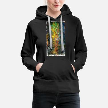 movement of red uneven square | abstract painting - Women's Premium Hoodie