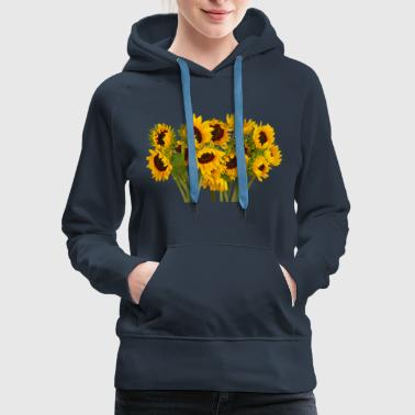 Crowd of Sunflowers - Women's Premium Hoodie