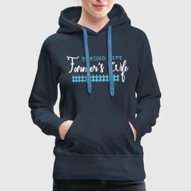 Blessed Life Blessed Life Farmer Shirt - Women's Premium Hoodie