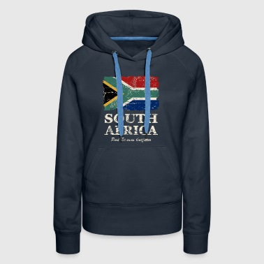 South Africa Flag - Vintage Look  - Women's Premium Hoodie