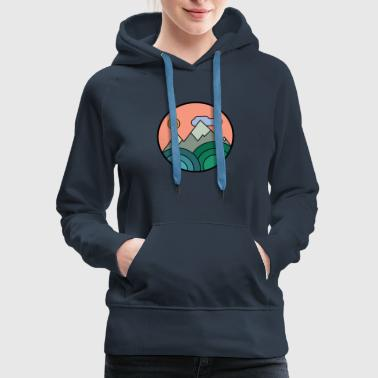 Retro Mountains Colours - Women's Premium Hoodie