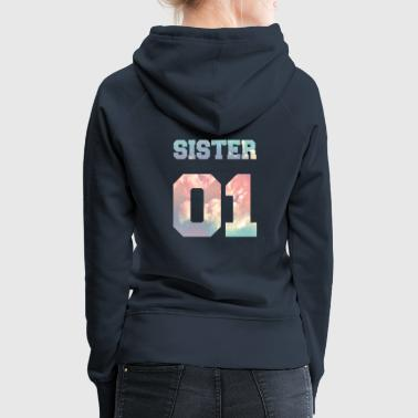 Sister 01, Sisters, Siblings, Family, Birthdays - Women's Premium Hoodie