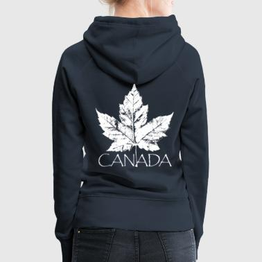 Canada Souvenir Cool Distressed Maple Leaf - Women's Premium Hoodie