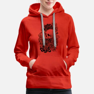Skull Flower Skull Enchanted - Women's Premium Hoodie
