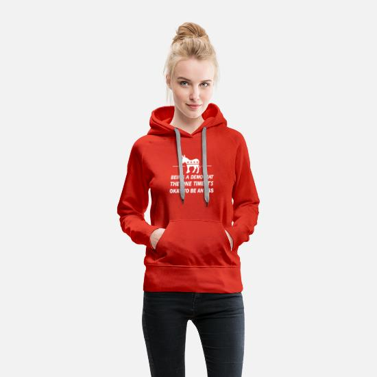 Democratic Party Hoodies & Sweatshirts - Funny Democrat - Women's Premium Hoodie red