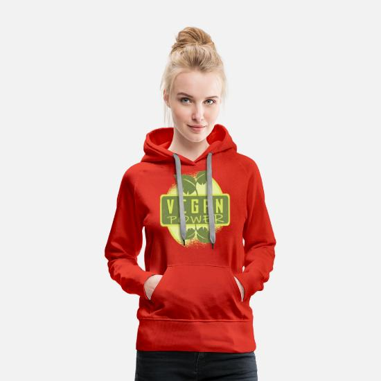 Veggie Hoodies & Sweatshirts - Vegan Power Go Vegan Gift Herbivore - Women's Premium Hoodie red