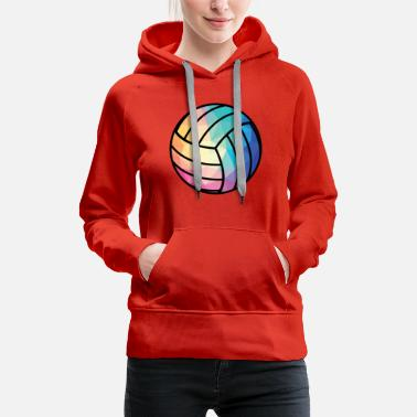 Low Key Geometric Volleyball T Shirt Low Poly Shirt Volley - Women's Premium Hoodie