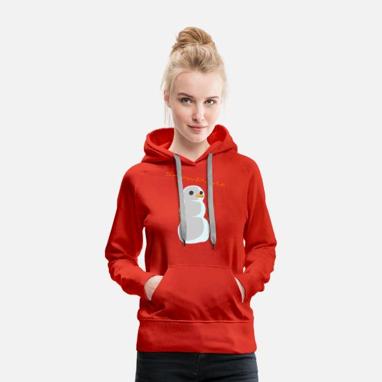 Winter Hoodies & Sweatshirts - SnowDude - Women's Premium Hoodie red
