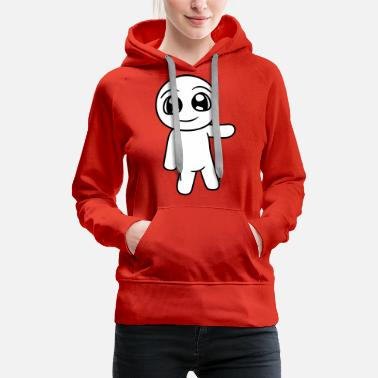 Strip little cute cute man figure show comic cartoon han - Women's Premium Hoodie