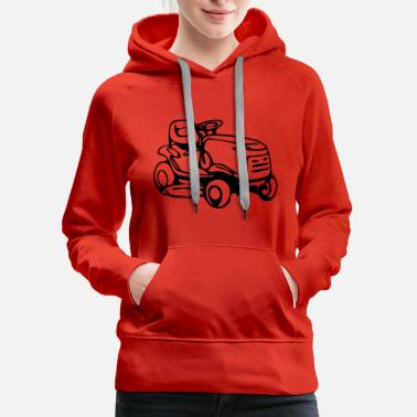 Lawn riding mower - Women's Premium Hoodie