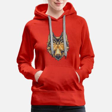 Short Wolf With Sunglasses T-Shirt Canine Wolves Head - Women's Premium Hoodie