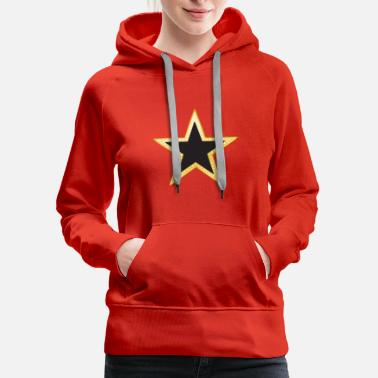Black And Gold Gold and Black Star - Women's Premium Hoodie