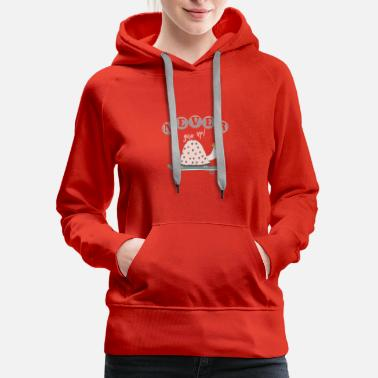 Never give up! - Women's Premium Hoodie