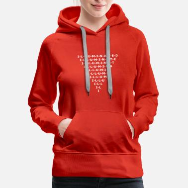 Freemasons Illuminated Inverted Pyramid Design - Women's Premium Hoodie