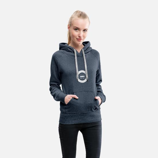 Retro Hoodies & Sweatshirts - Retro geek - Women's Premium Hoodie heather denim