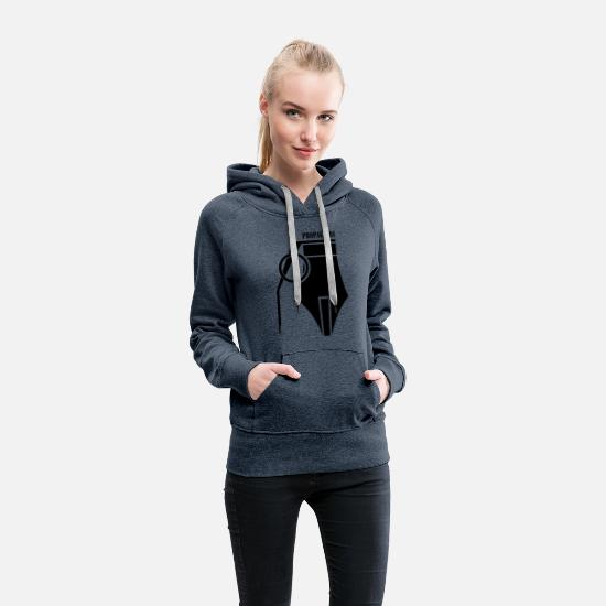 Propaganda Hoodies & Sweatshirts - Propaganda - Women's Premium Hoodie heather denim