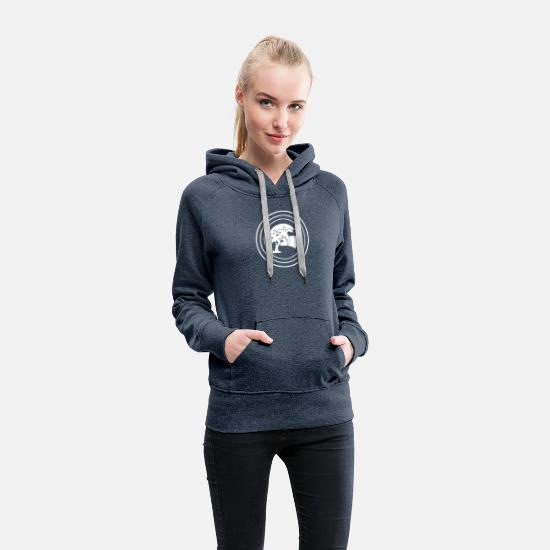 Bliss Hoodies & Sweatshirts - Summertime Bliss Radiate - Women's Premium Hoodie heather denim