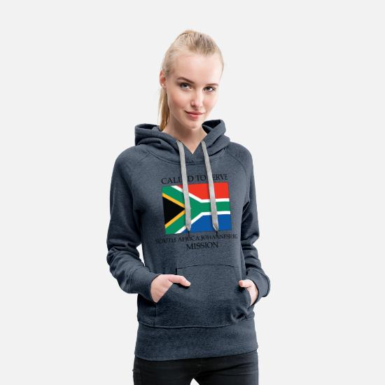 Africa Hoodies & Sweatshirts - South Africa Johannesburg LDS Mission Called to - Women's Premium Hoodie heather denim