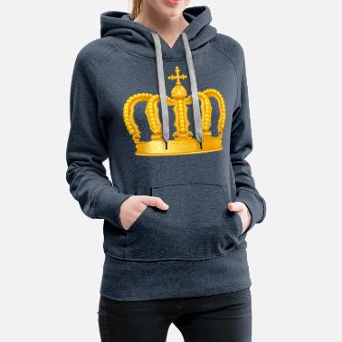 Golden Crown Royal King golden crown vip Monarch jewel - Women's Premium Hoodie