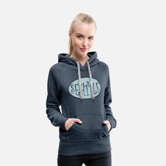 Seattle Hoodies & Sweatshirts - Seattle - Women's Premium Hoodie heather denim