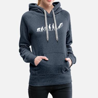 Ski Jumping Evolution Of Man Ski Jump - Women's Premium Hoodie