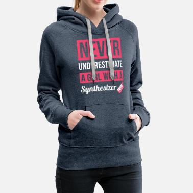 Never Forget Never Underestimate A Girl With A Synthesizer T Sh - Women's Premium Hoodie