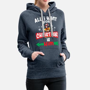 Matching Couples Christmas Couple Matching For Women - Women's Premium Hoodie
