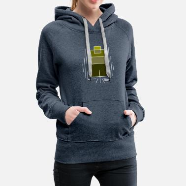 GSNK Ascending Green Squares Logo - Women's Premium Hoodie