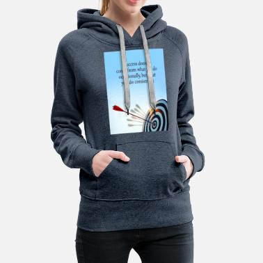 Occassionally success comes what you do consistently - Women's Premium Hoodie