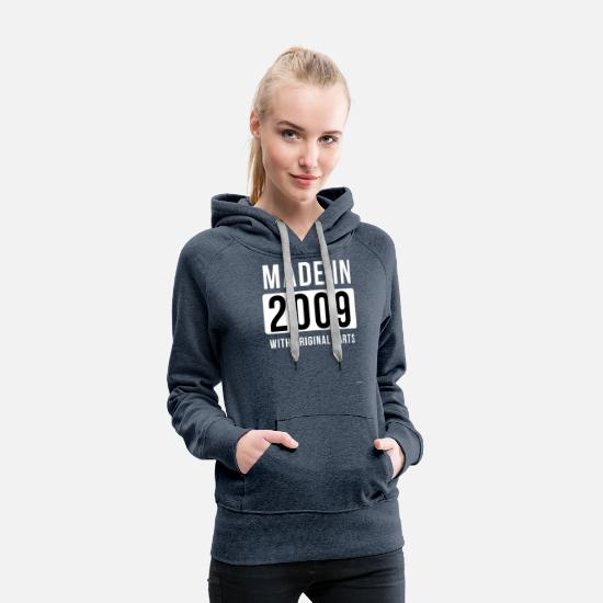 2009 Hoodies & Sweatshirts - Made In 2009 - Women's Premium Hoodie heather denim