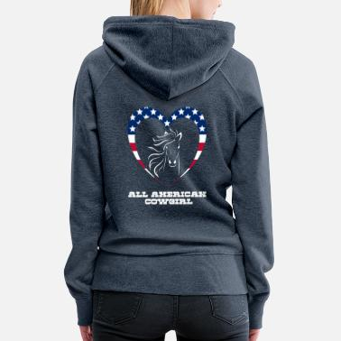 All American Cowgirl - Women's Premium Hoodie