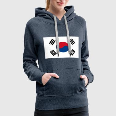 South Korea Flag I Love South Korea - Women's Premium Hoodie