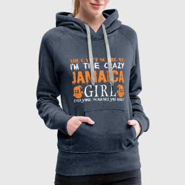 You Cant Scare Me Crazy Jamaica Girl Halloween - Women's Premium Hoodie