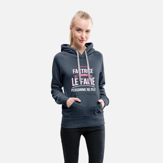Humor Hoodies & Sweatshirts - Facilitator no one can gift - Women's Premium Hoodie heather denim