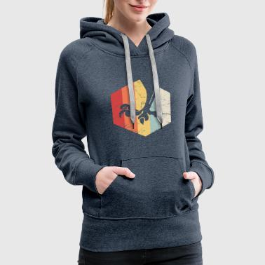 Retro 70s Birding Icon | Bird Watching - Women's Premium Hoodie