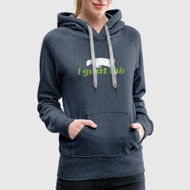 Animal Puns I Goat This - Women's Premium Hoodie