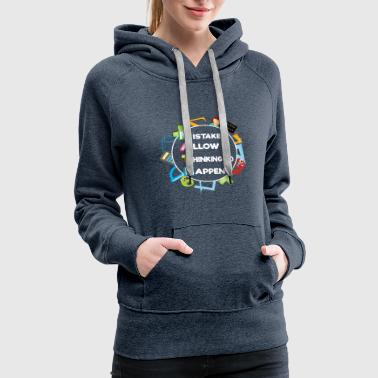 Smart Ass FUNNY MATH LOVERS GIFT MISTAKES ALLOW THINKING - Women's Premium Hoodie