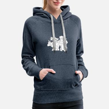 Caricature of famous people ... (shexy brand) - Women's Premium Hoodie