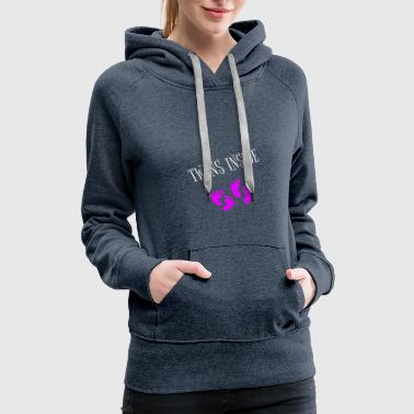 Pregnant with girls twins - Women's Premium Hoodie