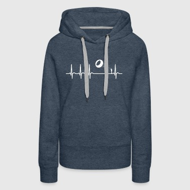 Heartbeat Bol Kite Flying Steer Cool Funny Gift - Women's Premium Hoodie