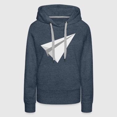 Paper Plane Jet Toy Aircraft Children Kids Gift - Women's Premium Hoodie