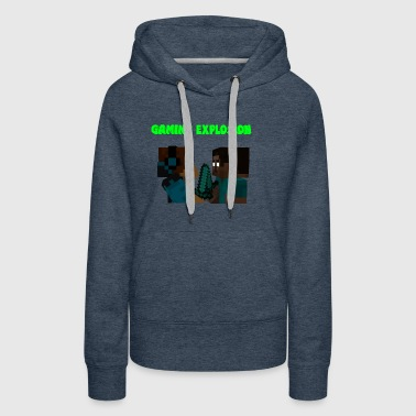 Gaming Explosion Herobrine vs Smooth__YT - Women's Premium Hoodie